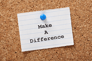 make a difference note on a bulletin board