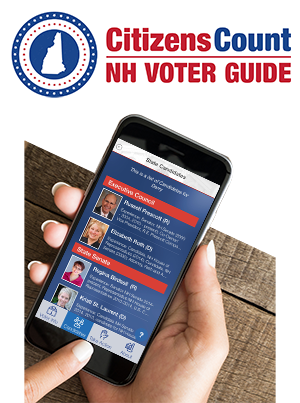 Citizens Count NH Voter Guide mobile phone app