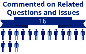 16 citizens commented on related questions or issues