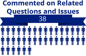 38 citizens commented on related questions or issues