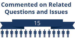 15 citizens commented on related questions or issues