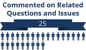 25 citizens commented on related questions or issues