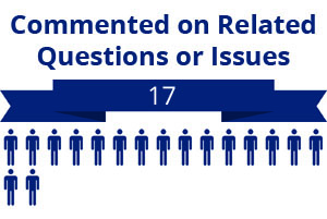 17 citizens commented on related questions or issues