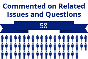 58 citizens commented on related questions or issues
