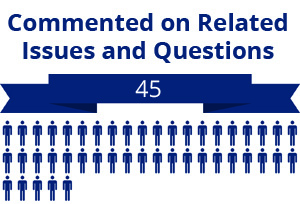 45 citizens commented on related questions or issues
