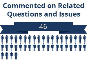 46 citizens commented on related questions or issues