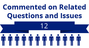 12 citizens commented on related questions or issues