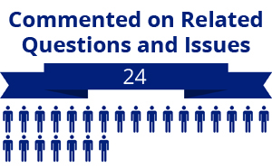 24 citizens commented on related questions or issues