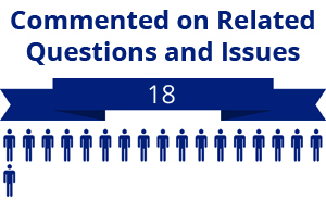 18 citizens commented on related questions or issues
