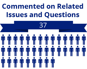 37 citizens commented on related questions or issues