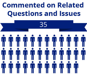 35 citizens commented on related questions or issues