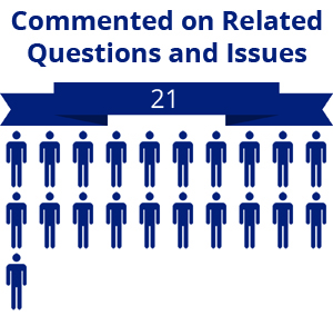 21 citizens commented on related questions or issues
