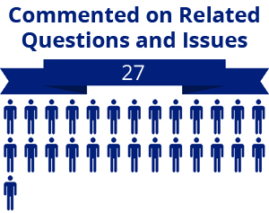 27 citizens commented on related questions or issues