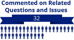 32 citizens commented on related questions or issues