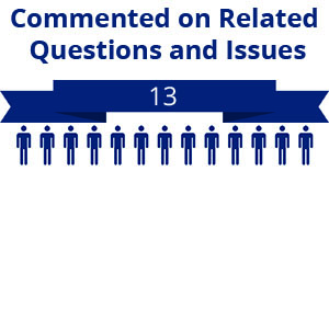 13 citizens commented on related questions or issues