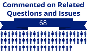 68 citizens commented on related questions or issues