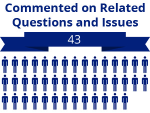 43 citizens commented on related questions or issues