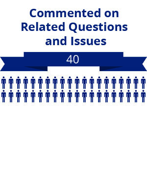 40 citizens commented on related questions or issues