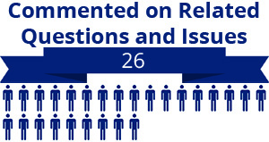 26 citizens commented on related questions or issues