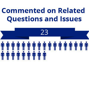 23 citizens commented on related questions or issues