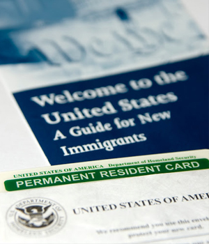 "documents labeled ""a guide for new immigrants"""