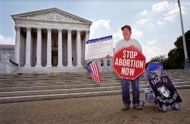 Pro-life protester Hyde Amendment