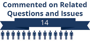 14 citizens commented on related questions or issues