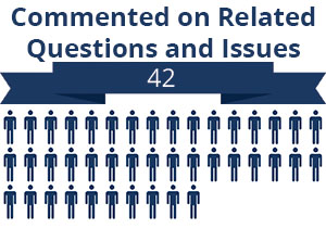 42 citizens commented on related questions or issues
