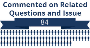 84 citizens commented on related questions or issues