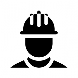 worker in hard hat icon