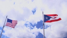 U.S. and Puerto Rico flags