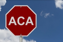 Affordable Care Act stop sign