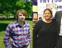 Caleb Dyer and Mariellen MacKay switch political parties