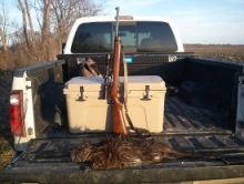 rifle in truck